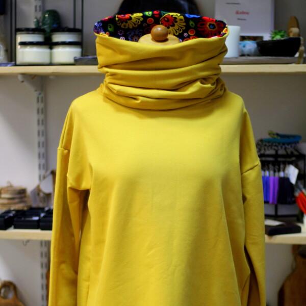 Bluza musztardowa folkowa