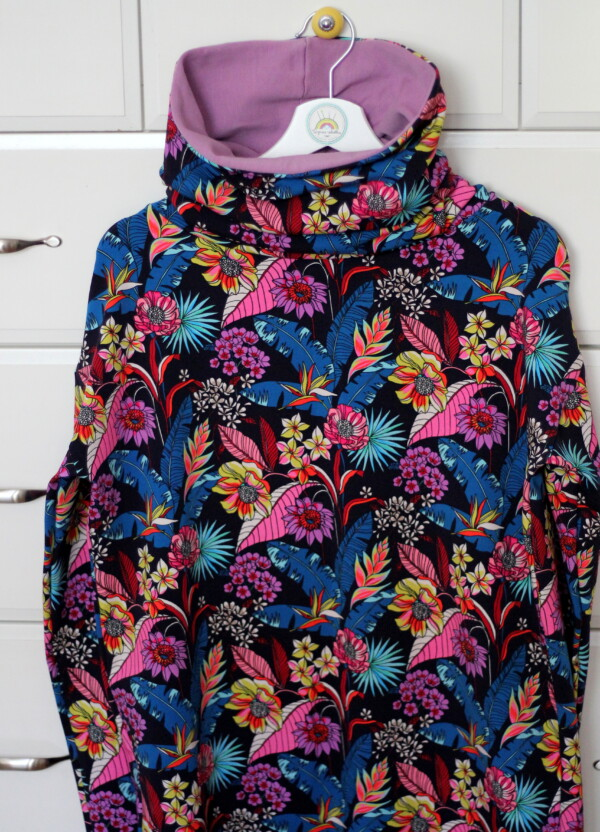 Bluza z kominem kolorowa dżungla
