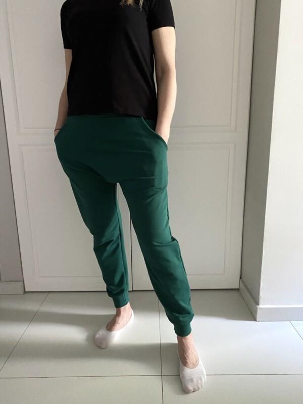 Zielone baggy