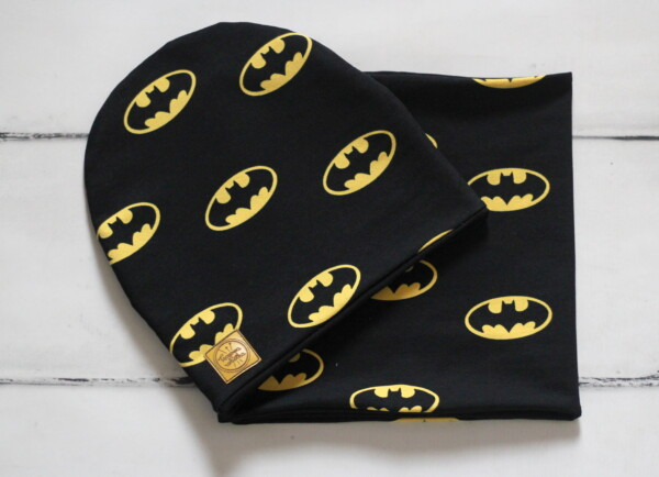 Komplet czapka i komin batman