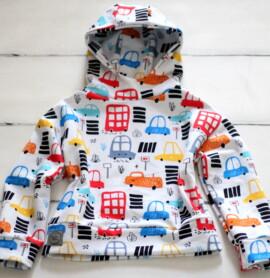 Bluza dziecięca w kolorowe autka