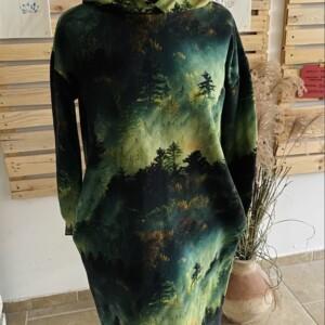 Sukienka z kapturem las